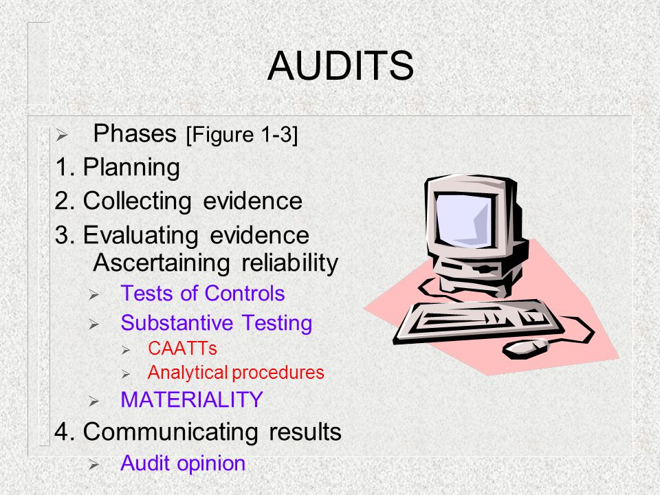 AUDITS Phases [Figure 1-3] 1. Planning 2. Collecting evidence